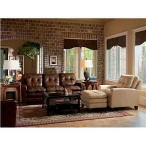 Flexsteel Latitudes - South Street Traditional Chair with Ottoman