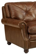 Nailhead Trim Adorns Rolled Arm Panels, As Well As Back Cushion Frames