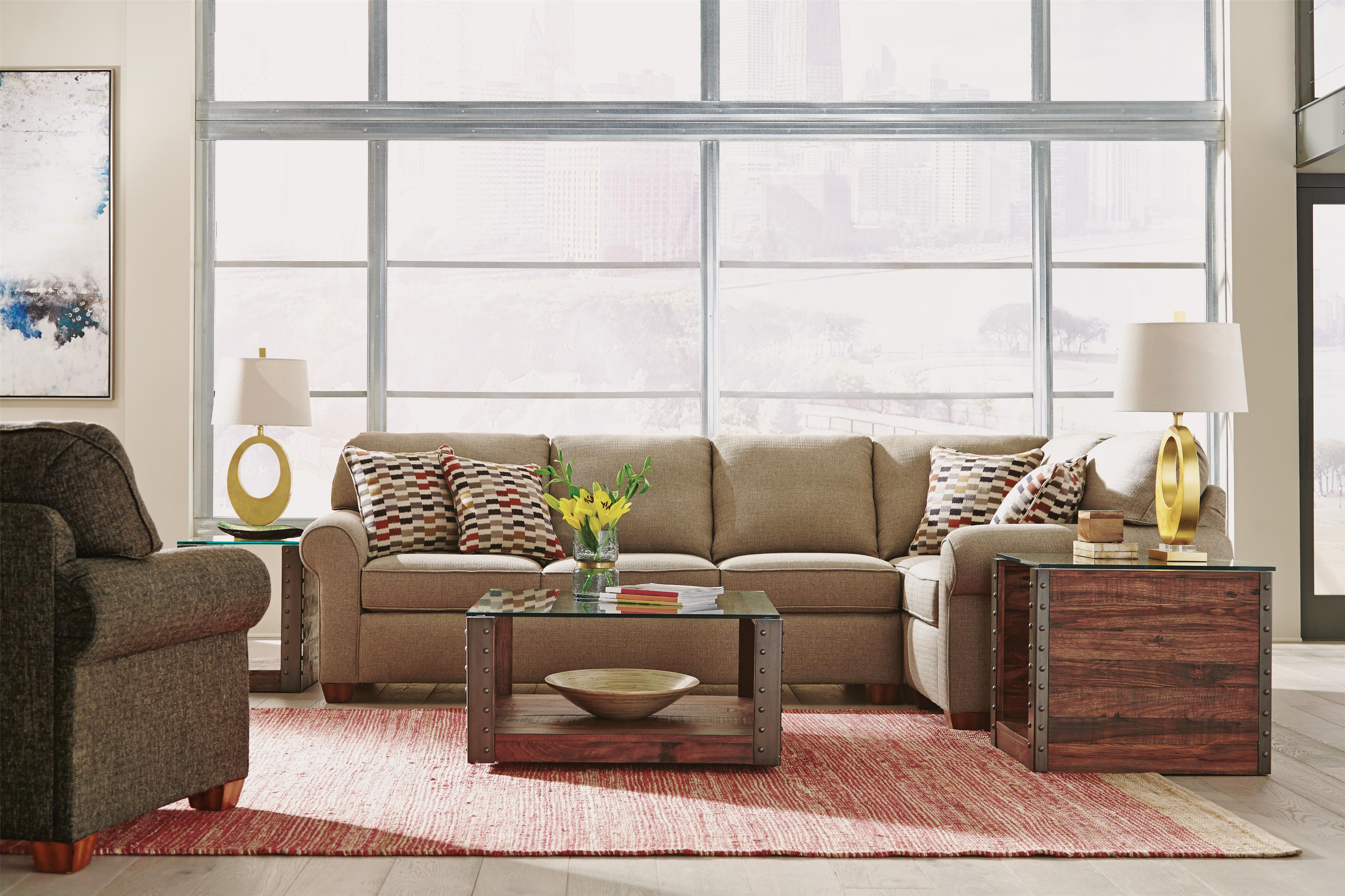 Flexsteel Thornton Stationary Living Room Group | Furniture and ...
