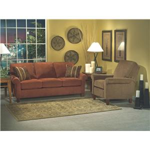 Flexsteel Westside Casual Style Rolled Arm Chair