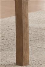 Wood Block Legs Create Modern Style