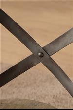 Metal Cross-Back on Dining Chairs