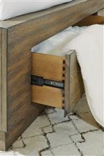 Footboard Storage Option and Self-Closing Drawers