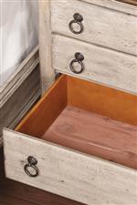Cedar-Lined Bottom Drawers