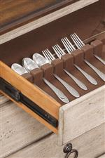 Removable Silverware Tray and Felt-Lined Drawers