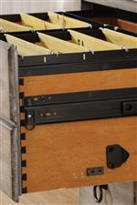 Side-Mounted Hanging File Drawers with Dovetail Joinery