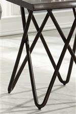 Geometric Criss-Cross Metal Legs Create a Mid-Century Modern Look