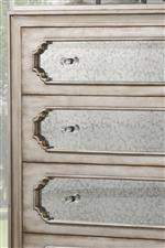 Scalloped Drawer Fronts with Antique Mirror Insets