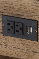 Electrical Outlets and 2 USB Ports