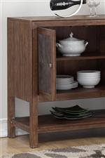 Ample Storage Space Keeps All of Your Dinnerware Organized and Out of Site