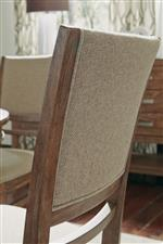 Soft Upholstered Back and Seat on Rustic Brown Oak Veneers