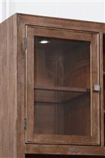The Canister Light Behind the Lockable Glass Cabinet Door