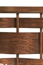 Contemporary Woven Panel Headboard and Footboard