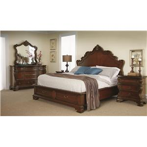 Morris Home Furnishings Columbia Queen Storage Bed with Two Drawers