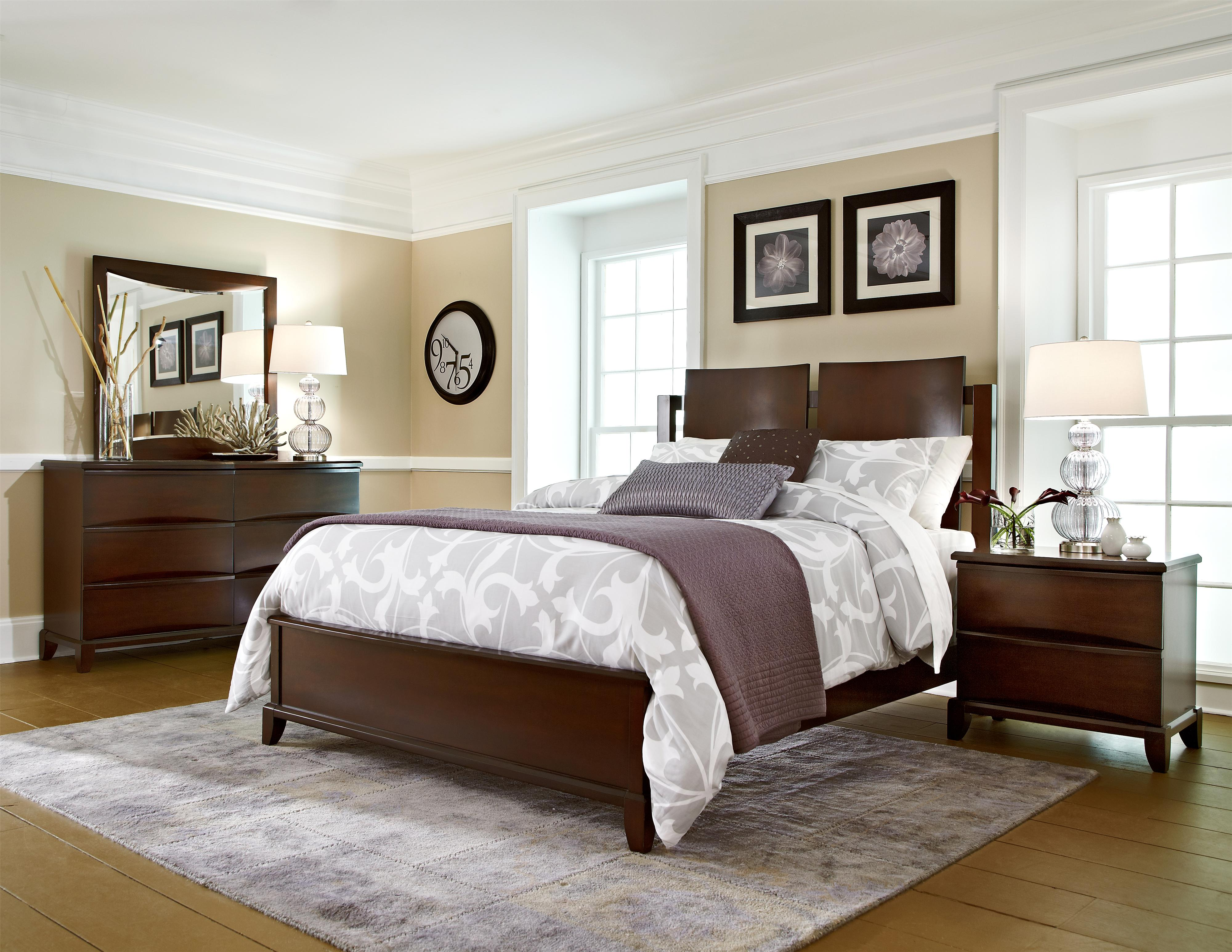 Folio 21 Continental Queen Bed With Contemporary Panel Headboard Story Lee Furniture Footboard Leoma Lawrenceburg Tn And Florence