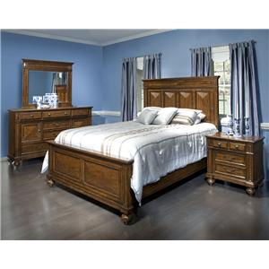 Morris Home Furnishings Jackson Traditional King Storage Bed with Raised Panels and Bun Feet