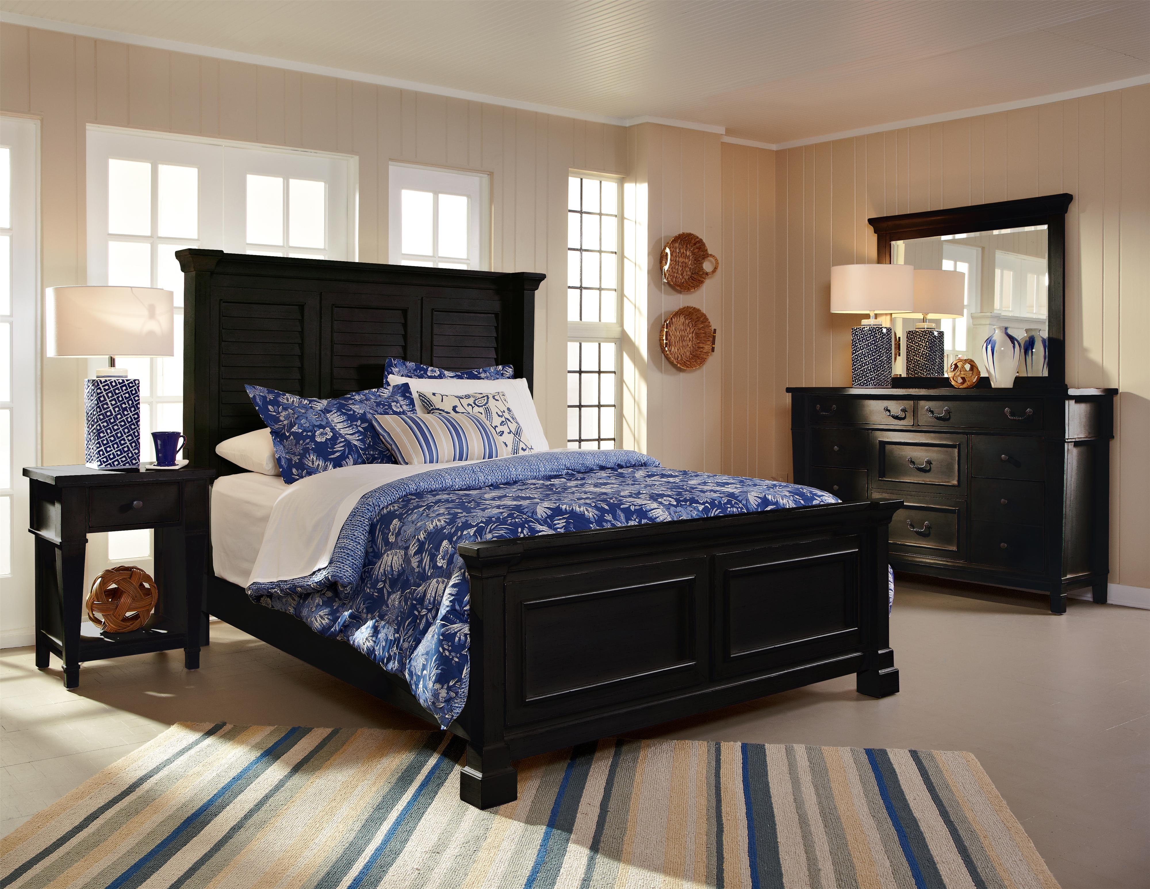 Folio 21 Ravenswood King Bed with Shutter Headboard and Storage ...