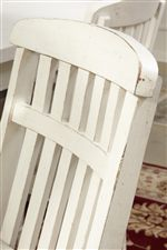 Fence-Style Back on Dining Chair