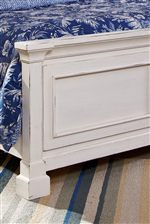 Footboard Features Raised Panels, Simple Molding and Block Feet