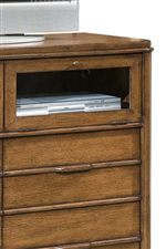 Glass-Door Storage Compartment in Media Chest