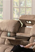 Franklin 524 Casual Reclining Sofa With Built In Storage And