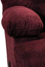 Plush Pillow Top Arms with Storage Compartments