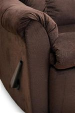 Recliners Feature Rounded Pillow Arms