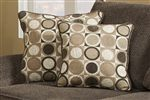 Coordinating Accent Pillows Add Comfort and a Geometric Pattern