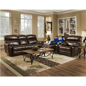 Franklin Butler Reclining Console Loveseat for Family Rooms