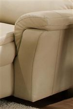 Soft Padded Arms Blend with Smooth Upholstered Sides for a Casual and Contemporary Furniture Style