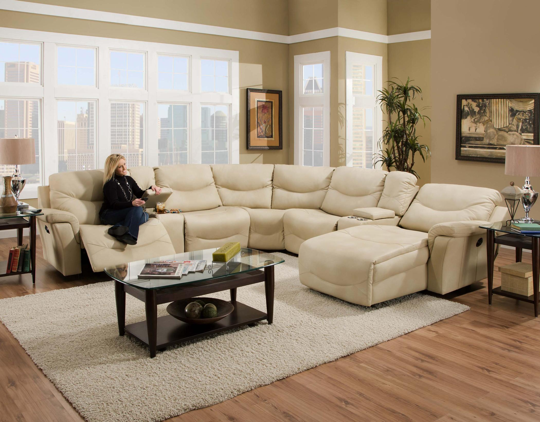 Sectional Sofa With Consoles Milano By Franklin Wilcox Furniture Reclining  Sectional Sofa Corpus Christi, Kingsville