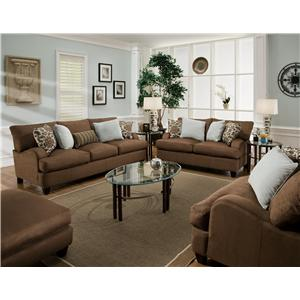 Franklin Moxie Stationary Living Room Group