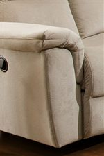 Pillow Topped Arm Rests offer a Casual Style and Enhanced Comfort