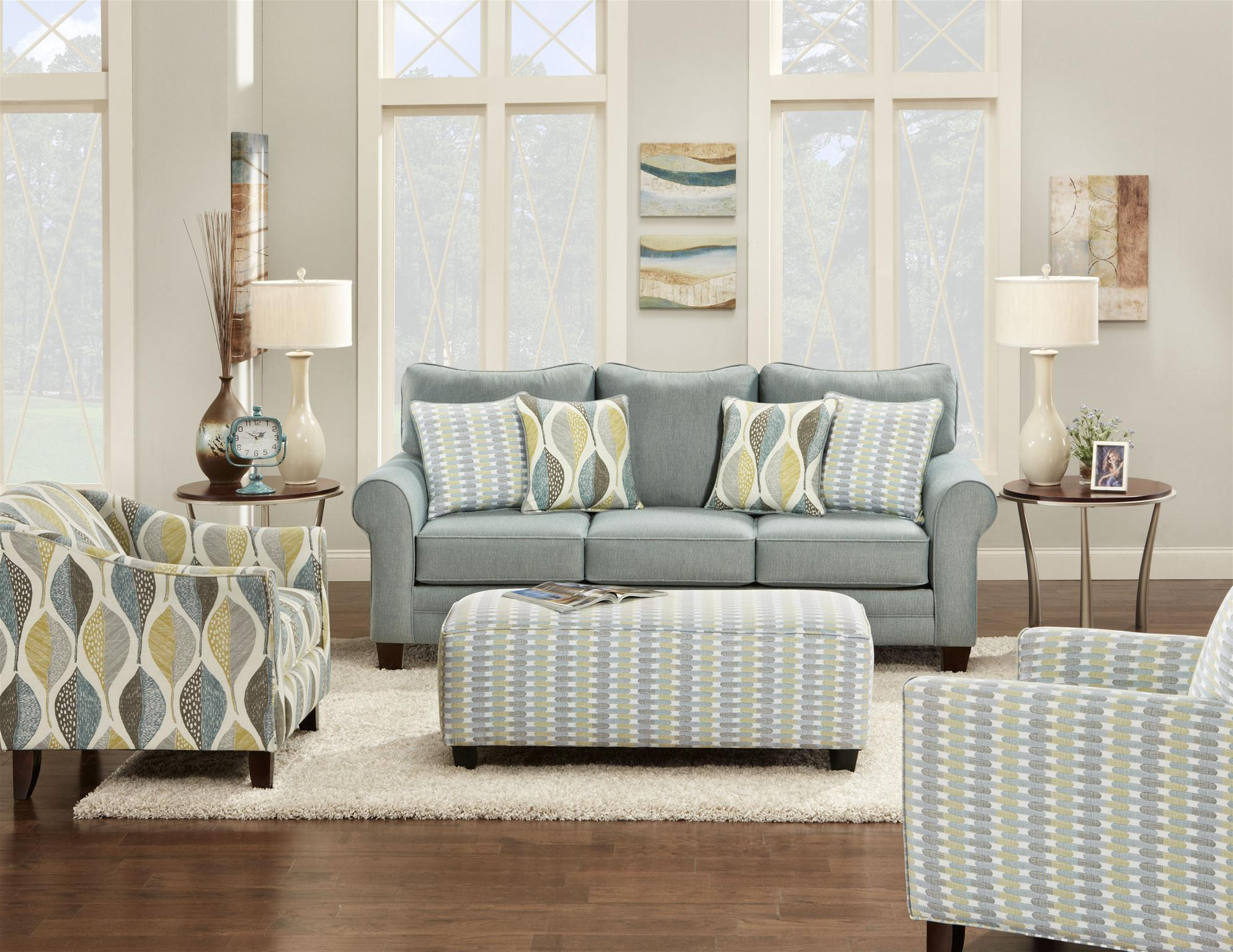 Fusion Furniture 1140 Stationary Living Room Group - Item Number: 1140 Living Room Group 1