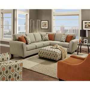 Fusion Furniture 4800  Stationary Living Room Group