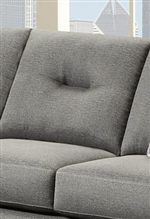 Square Seat and Back Cushions with Modern Linear Tufting Detail