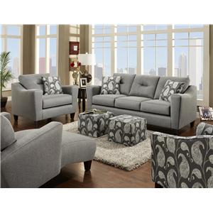 Fusion Furniture Bodie Stationary Living Room Group