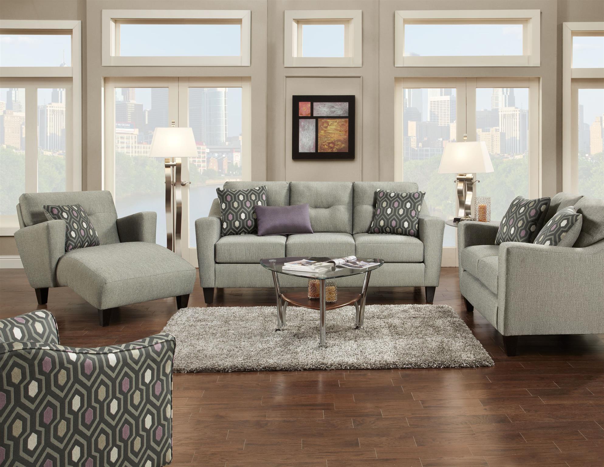 Fusion Furniture 8210 Contemporary Chaise