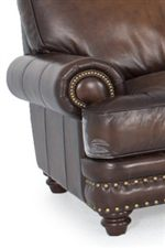 Rolled Arms with Nailhead Trim & Exposed Wood Feet