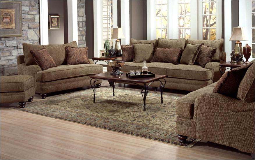 Genesis 1900 Stationary Sofa With Wood Legs   BigFurnitureWebsite   Sofa
