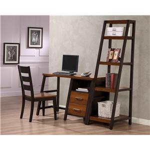 Whalen Waco Desk with 2 Drawers and Shelf and Attached Bookshelf