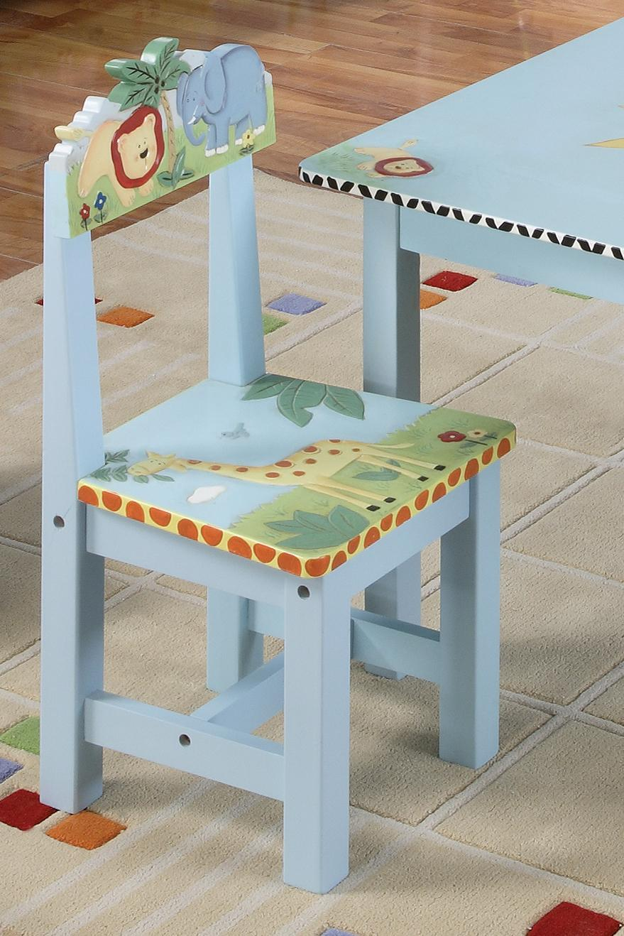 Guidecraft Safari Hand-Painted Table & Chairs Set ...