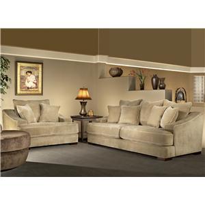 Fairmont Designs Cooper Minx Mocha Stationary Sofa with ...