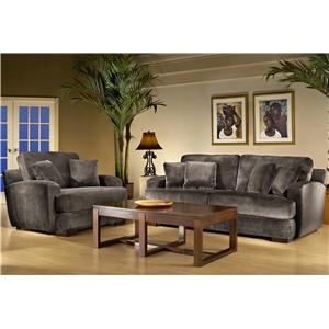 Fairmont Designs Riviera 668 Comfortable Sofa with Plush Cushions and Contemporary Style