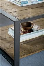 Rustic Pine Veneer and Metal Frames