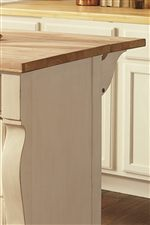 Kitchen Bureau Features Raw Wood Top and Drop Leaf