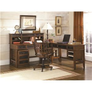 Hammary Mercantile Three Drawer Desk