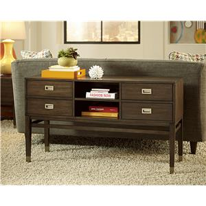 Hammary Stratus Rectangular Drawer End Table with Open Compartment