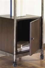 Cabinet Located at Bottom of Etagere