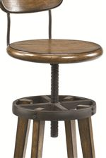 Screw Adjustable Height Stool